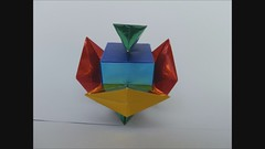 Artifact of Taupo (My Design) - A Model of Many Views (Martin's Origami) Tags: color art geometric make by paper fun japanese amazing cool nice interesting ancient origami colorful martin artistic good geometry foil crafts awesome great egypt craft hobby grace best cube assemble fold organic clover artifact making crease andersen marvelous inspiring folding kami fascinating assembly entertaining daiso tremendous designed eqyptian artistical creasing sejer msaorigami