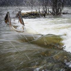 Submerged walkning bridge (Helena Normark) Tags: norway river norge flooding 5d trondheim srtrndelag nidelva 3514 canoneos5d nidelven explored distagont1435 submergedwalkningbridge