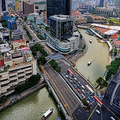 Coleman Bridge at the Singapore River, Clarke Quay... (williamcho) Tags: ngc central clarkequay singaporeriver riversidepoint rivertaxis colemanbridge flickraward nikonflickraward flickrtravelaward