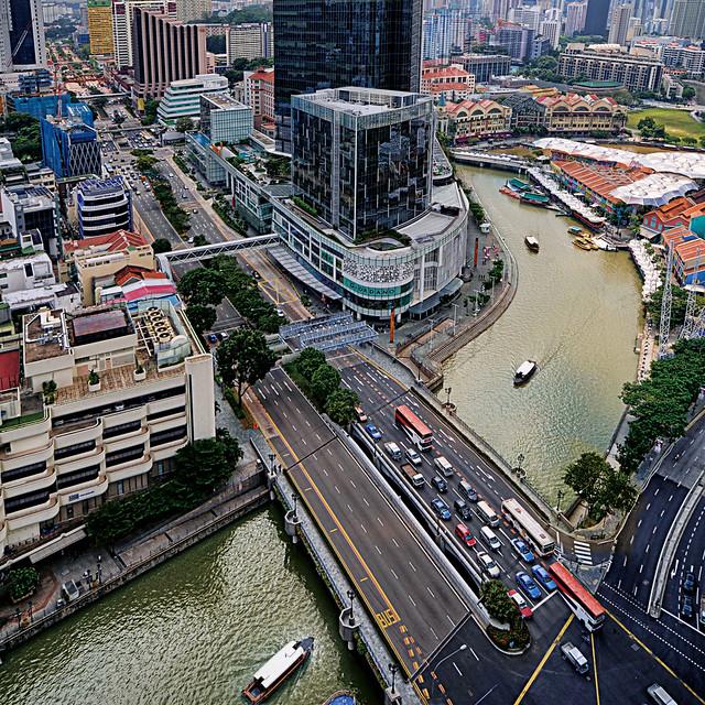 Coleman Bridge at the Singapore River, Clarke Quay...