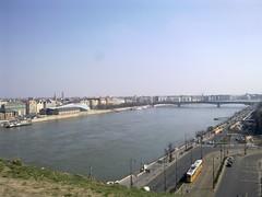 Danube river from the Buda river bank