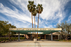 Palm Springs City Hall (Chimay Bleue) Tags: city trees architecture modern de hotel hall williams desert hole steel modernism palm stewart springs atomic frey chambers ville corrugated modernist pergola midcentury postwar mcm midmod