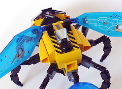 Bumblebee Engine Detail (Oky - Space Ranger) Tags: birds star robot ship lego mechanical space bees bee bumblebee wars clone starfighter insectoids