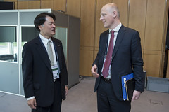 Mitsuhiko Yamashita meets with Michael Kloth