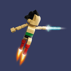 Lego Astro Boy (Fredoichi) Tags: sculpture art japanese lego space cartoon manga animation movies videogame astroboy rendition osamutezuka fredoichi