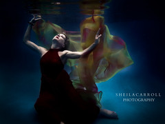 Underwater adventures!! (Sheila Carroll) Tags: reflection water fashion model underwater flowingfabric underwaterfashion photographyunderwater fashionphotographyunderwater