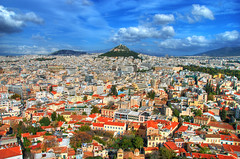 Athens, Greece (Rich3012) Tags: sky skyline clouds rooftops athens aerial roofs greece hdr
