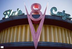 Flo's Cafe (mkealcoran) Tags: balloons disneyland disney dca californiaadventure buenavistastreet flosv8cafe carsland floscafe