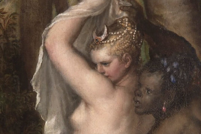 Detail from Titian's Diana and Actaeon
