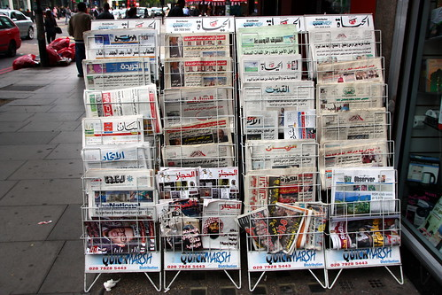 Jornais árabes / Arabian newspapers by Marcio Cabral de Moura, on Flickr