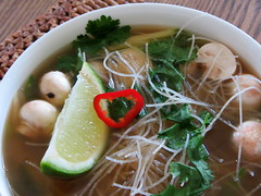 Killer Thai soup (charlottehbest) Tags: food chicken soup homemade killer thai noodles spicy lime chilli 2012 corriander charlottehbest
