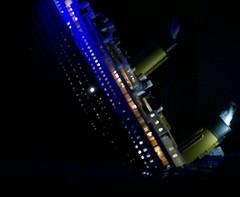 Night And Ice (billhenry198393) Tags: lighting ice night lights model ship iceberg titanic sinking modelship thetitanic titanicmodel titanicsinking