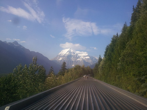 Mount Robson from the Observation Car