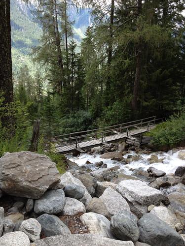 Alpine footbridge