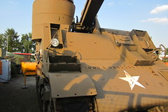 Tank close up (frogthroat) Tags: party berlin self canon airport ixus hs 115 propelled tegel 105mm howitzer arvato m7b2