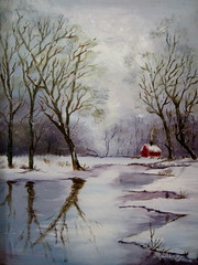 Winter Reflections -oil