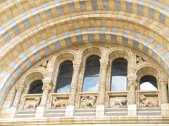 Detail above Natural History Museum entrance (maineexile) Tags: london naturalhistorymuseumlondon