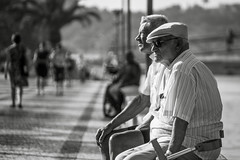 114/365 - Sittin' On the Dock of the Bay (Aaron_S.) Tags: old people men portugal marina canon blackwhite europe guys lagos 60d 365project
