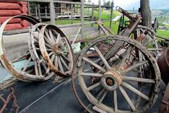 Old Wagon Wheels (5of7) Tags: wood old abandoned wheel vintage wagon wooden decay wheels retro nostalgia round onwheels challengewinner pregamewinner pregamechallenges
