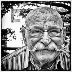 Utrecht#5 (big andrei) Tags: street bw face grain olympus mustache