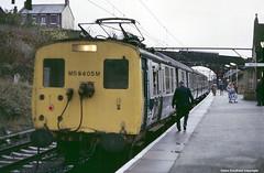BR 506 Unit M59405M, Hadfield Station, Derbyshire (Lady Wulfrun) Tags: station dc december br derbyshire 1984 406 3rd unit hadfield m59405m 1500volts 406unit