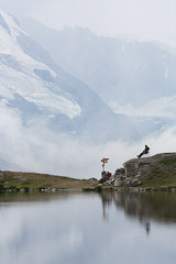 Contemplation - Stellisee (Zermatt) - Switzerland (Nonac_eos) Tags: lake alps icon flue zermatt matterhorn alpinelake wallis valais swissnationalday fluhalp stellisee ef70200mmf40lisusm cervinoreflection