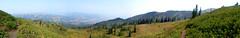 Ben Lomond Peak, UT (Explore) (Erin McGuire) Tags: trees panorama mountain rock fog landscape outdoors fire climb utah hiking smoke trail saltlake benlomond ogden benlomondpeak ogdenvalley willardpeak