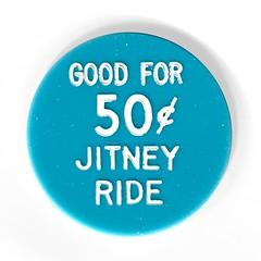 1969 Santa Rosa Joe & May's Jitney Bus 50 Cent Token Reverse (Jafafa Hots) Tags: bus public coin publictransportation transport token jitney jitny jafafahots