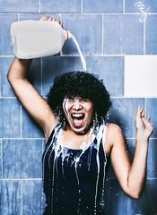 364/365 (Miss Minie  :Process Of Illumination:) Tags: woman selfportrait me girl self canon bathroom 50mm milk bathtub splash 430ex 365project