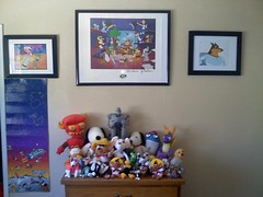 What I Wake Up to Every Morning (at the wall I stare at.) (MADDOGCA) Tags: road coyote pink dog bunny danger giant mouse robot iron hanna brothers rude taz bugs astro charlie warner e snoopy devil yogi doraemon daffy speedy runner blitz panther garfield scooby squirtle k9 barbera jetsons spyro wile huckleberry