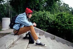 (Nemanja Kneevi) Tags: boy color film stairs port serbia portret milos srbija boja kolor nemanja stepenice arandjelovac aorist knezevic nemanjaknezevic nkrs milosradicevic