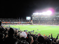 Bledisloe Cup, New Zealand Vs Australia, Eden Park (russelljsmith) Tags: newzealand cute green fleur girl playground lights pretty rugby stadium edenpark australia auckland busy allblacks 2012 bledisloecup 77285mm