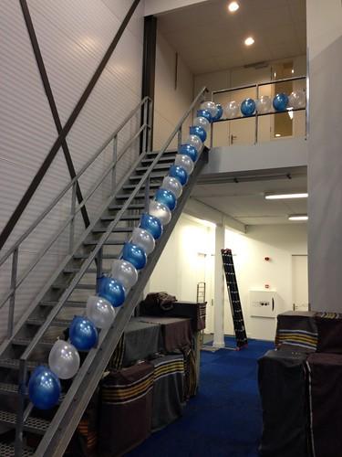 Diverse Ballonslinger Blauw Wit