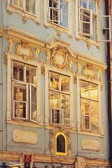 Prague building (ninasclicks) Tags: city windows house building architecture reflections golden prague edificio praga openwindows ninasclickstumblrcom