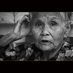 Old age (-clicking-) Tags: old portrait blackandwhite monochrome asian blackwhite eyes asia mood faces emotion time details traces vietnam age older oldwoman aged feeling oldage visage oldtime nocolors tracesoftime oldportrait oldmother oldfaces vietnamesemothers tracesofage