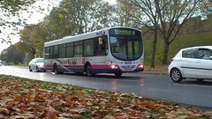 The Autumn Leaves, and First York YJ51 PZU 60883 Wright Eclipse Metro - Diverted (Nelboy - MazeTeam) Tags: street york autumn trees bus leaves eclipse metro group first wright diversion diverted paragon firstgroup b7l 60883 firstyork yj51pzu divertedbus busondivert