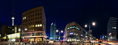 Berlin - Alexanderplatz (tom_stromer) Tags: park berlin germany deutschland lights inn die nightshot alexanderplatz fernsehturm saturn alexa mitte sparkasse nachtaufnahme grunerstrase alexanderstrase behrensbauten