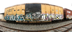 Roar, Epoxe (No Real Name Given.) Tags: railroad train graffiti monopoly rails boxcar roar freight cbs benching