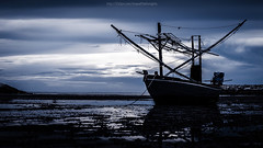 Old wooden fishing boat (Jirawatfoto) Tags: ocean old uk blue sunset sea sky sun beach water sunrise vintage landscape denmark thailand boats coast pier boat wooden fishing fisherman view transportation thai dorset bournemouth