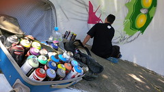 Binho - in action (Av. Ibirapuera, São Paulo, Brasil, Abril 2014) (FRED (GRAFFITI @ BRAZIL)) Tags: brazil streetart brasil graffiti arte sãopaulo sampa sp ibirapuera urbano moema brésil grafite artederua binho grafiteiro