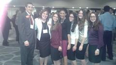 Students of Sha'arei Bina Torah Academy for Girls with Joe Kaufman and Emily Kaufman at AIPAC Florida 2014.