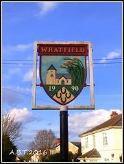 Whatfield Village Sign (Alan B Thompson) Tags: sign suffolk village phone sony picasa eastanglia 2016