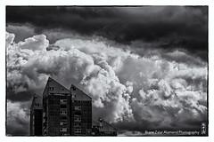 cloudy (alamond) Tags: sky blackandwhite bw cloud storm monochrome rain weather clouds canon dark is cloudy 7d l usm ef mkii markii 70300 brane llens f456 alamond zalar