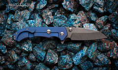 Aegis Knife Works Hoplite (Fly to Water) Tags: blue photography foot steel knife professional works blade combat product titanium sheeps folder aegis folding carpenter cts hoplite tactical apatite anodized xhp sheepsfoot midtech ctsxhp