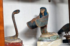 Uraeus and Neith (konde) Tags: wood ancient cobra goddess valleyofthekings thebes statuette neith amenhotepii kv35