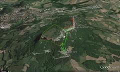 Google Earth 3D (vista S) (Emanuele Lotti) Tags: italy mountain montagne trekking italia hiking dante tuscany di alpini gps toscana tosco pietra piazzale montagna reggiano emiliano monti appennino rifugio gruppo pegaso ferrata eremo escursionismo traccia bismantova escursioni