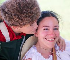 Kiss for Mom (wyojones) Tags: boy woman man girl kiss texas mother houston pioneer frontier reenactor texan deerpark coonskincap civilians texican sanjacintoday sanjacintobattlefieldstatehistoricalpark sanjacintobattlereenactment sontexasindependence