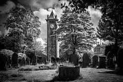 St Stephen's Churchyard (freyjad1706) Tags: mono clocktower pick lindley blip