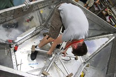 "Installing the reaction wheel • <a style=""font-size:0.8em;"" href=""http://www.flickr.com/photos/27717602@N03/26955917252/"" target=""_blank"">View on Flickr</a>"