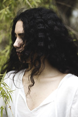 IMG_9679 (aishejonelle) Tags: trees flower tree nature girl female hair outdoors long child outdoor portait fresh curly preraphaelite
